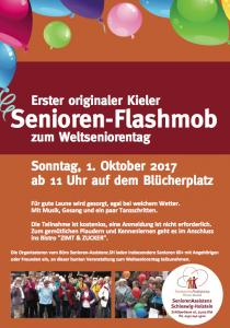 1. Kieler Senioren FlashMob zum Weltseniorentag 2017
